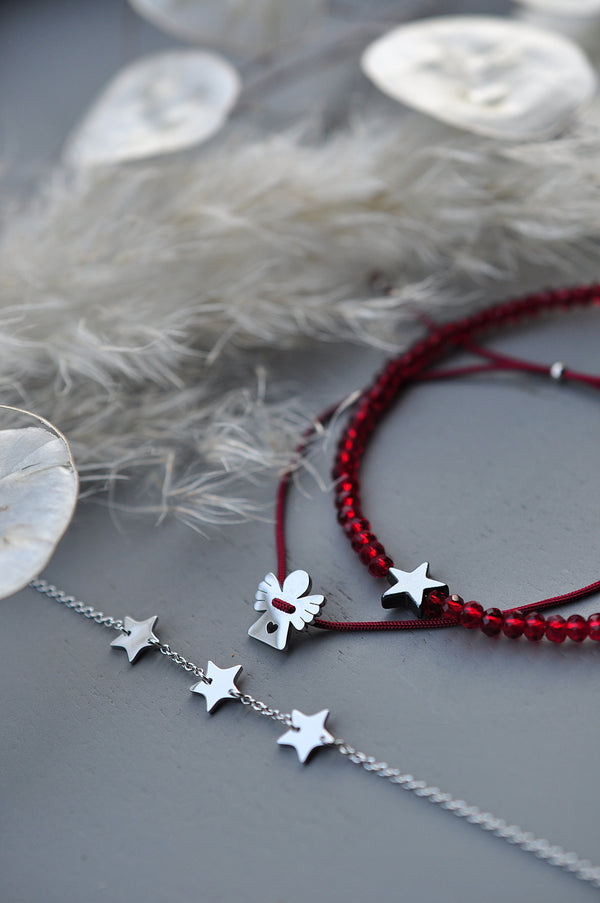 MOONCHILD silver plated angel & snowflake