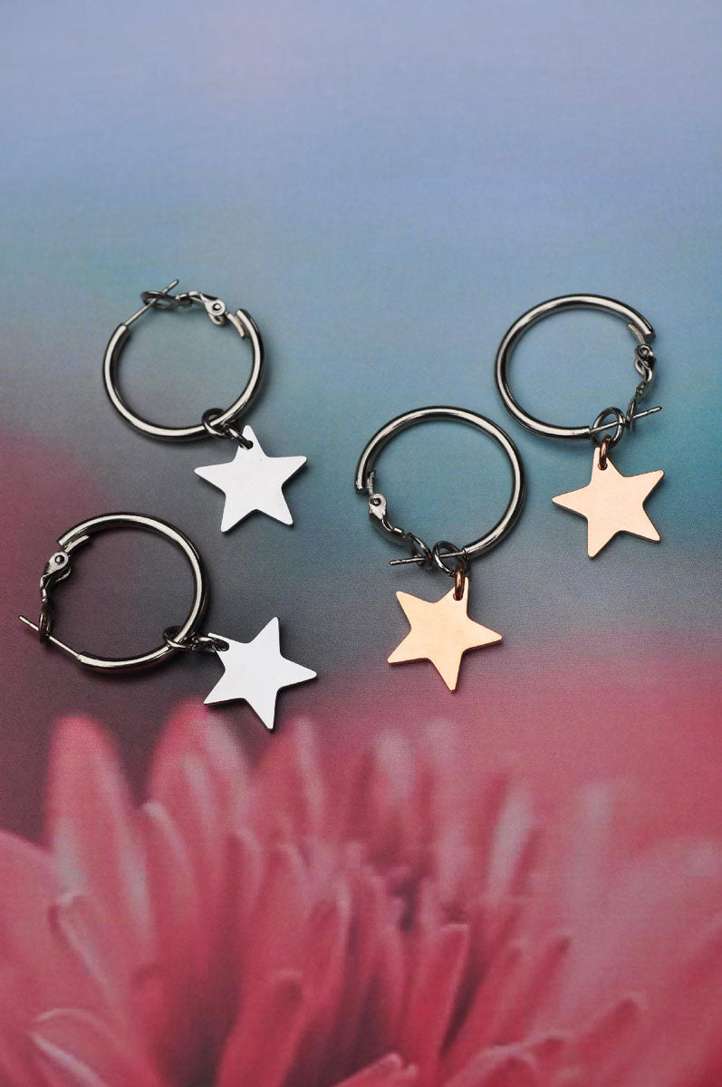 Earrings STAR HOOP / Naušnice RING STAR
