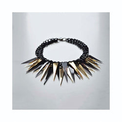 Spikes necklace BLACK/GOLD/ Spikes ogrlica CRNO/ZLATNA