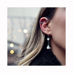 Falling earrings MICKEY POW POW / Viseće naušnice MICKEY POW POW