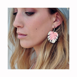 Earrings MONSTERA SUMMER / Naušnice MONSTERA SUMMER