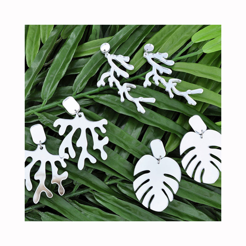 Earrings RAIN FOREST MONSTERA / Naušnice RAIN FOREST MONSTERA