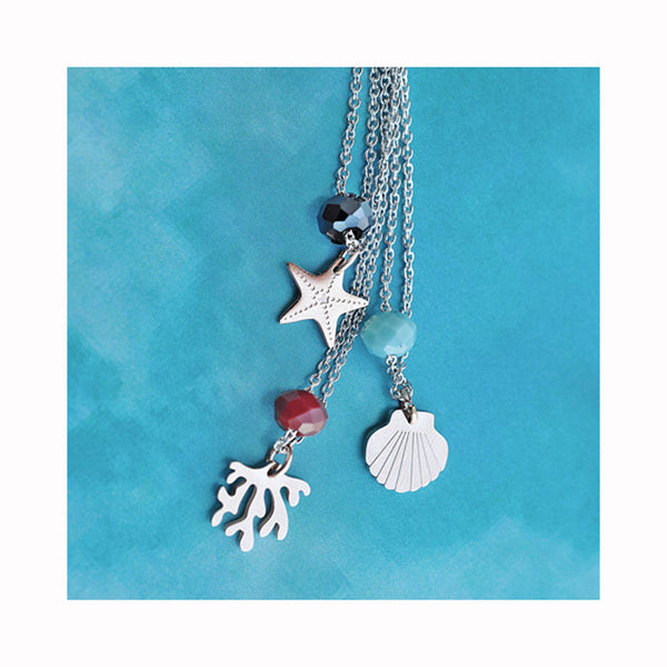 Silver plated BLOO COLOR necklace / Posrebrena BLOO COLOR ogrlica