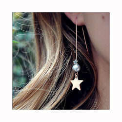 Chain earrings PEARL STAR / Viseće naušnise PEARL STAR