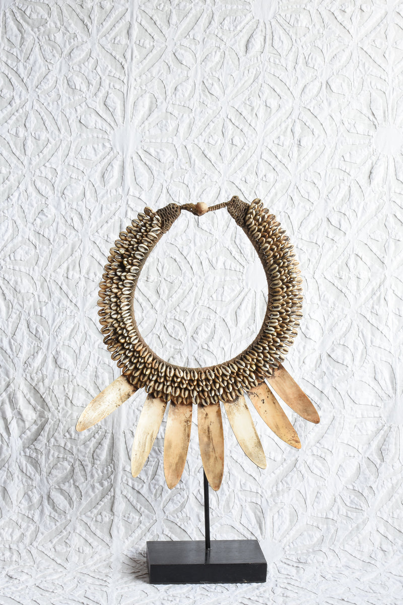 Papua Necklace on Stand - Vintage Style