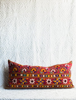 Vintage Embroidered Skirt Pillow