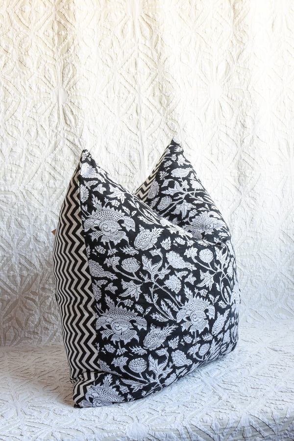 Reversible Block Printed Pillow