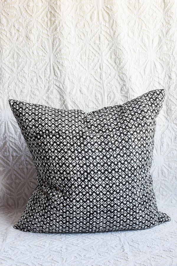 Hand Blockprinted Kantha Stich Pillow