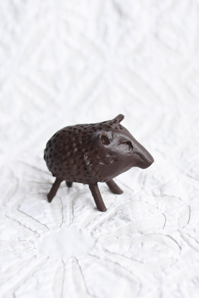 Hand Built Clay Javelina
