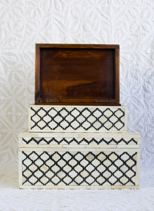 Bone Inlay Box - Black