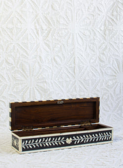 Bone Inlay Pencil Box