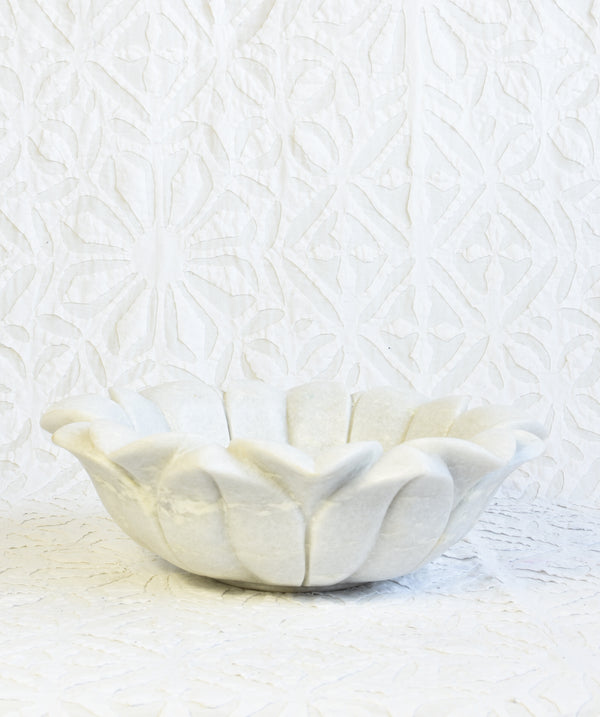 Floral Marble Bowl