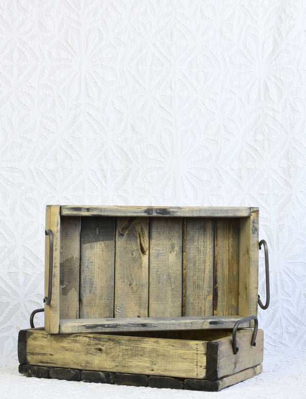 Wooden Small Rustic Tray