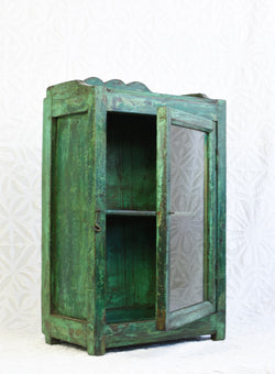 Vintage Glass Wall Cabinet