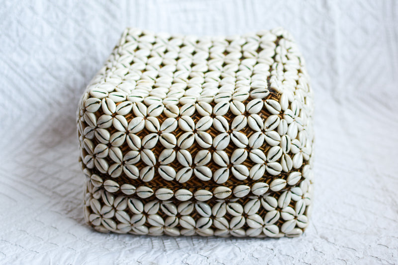 Cowrie Shell Basket Box
