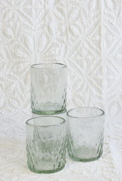 Handblown Drinking Glass - Seeded