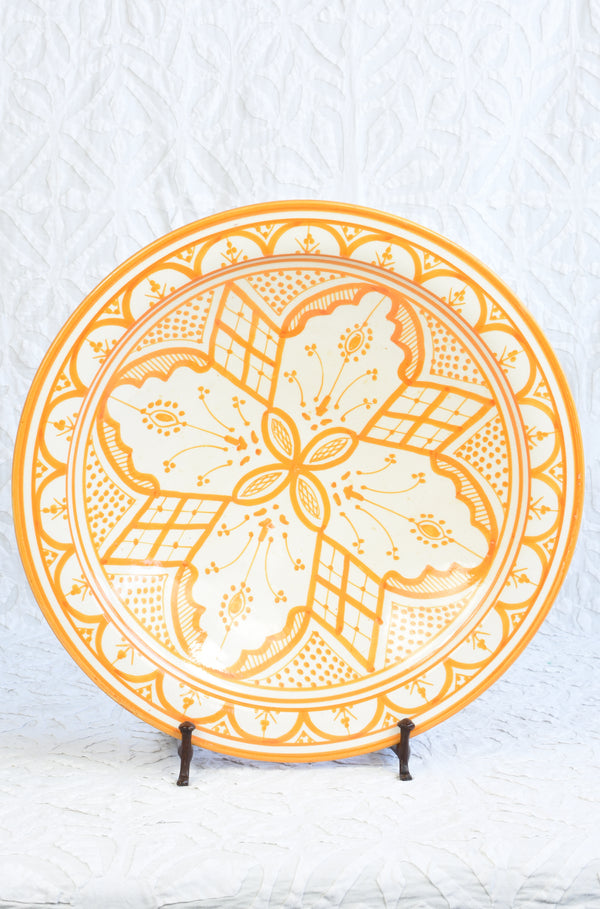 Safi Plate - Orange and White