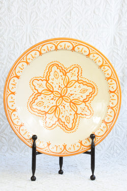 Safi Plate - Orange and White - Large