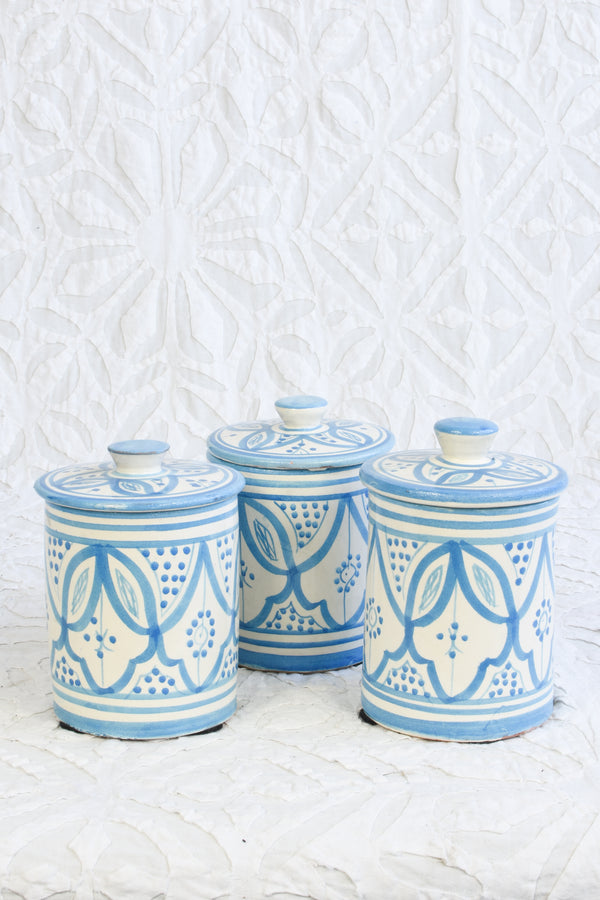 Safi Canister - Blue and White