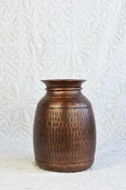 Iron Vase - Antiqued Copper Finish