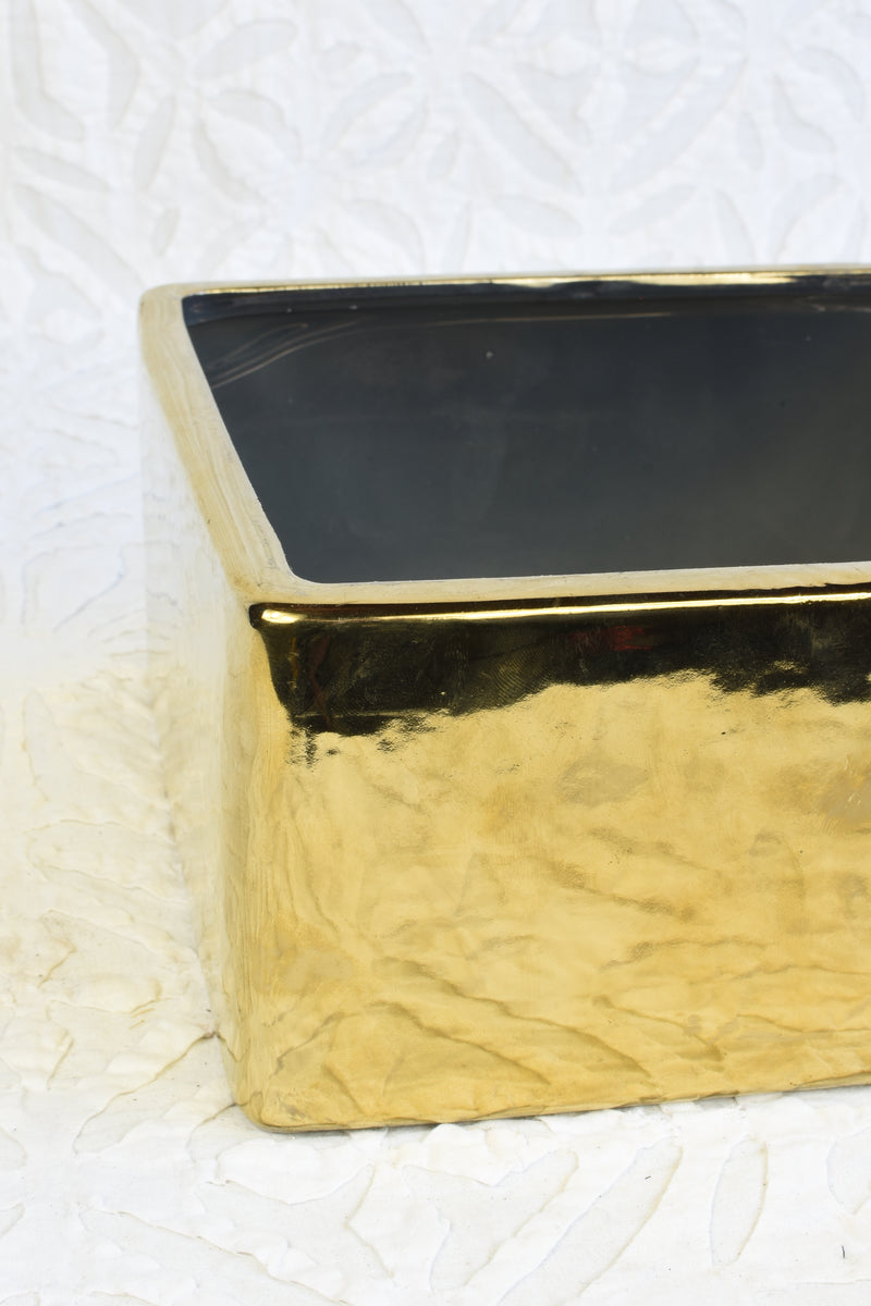 Square Gold Pot