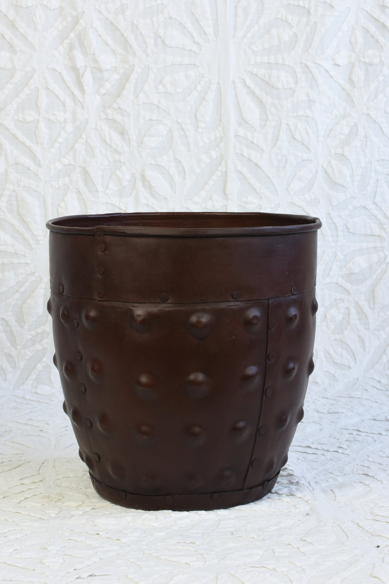 Round Iron Planter - Small