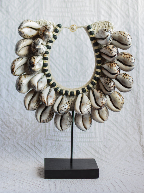 Large Shell Papua Necklace on Stand