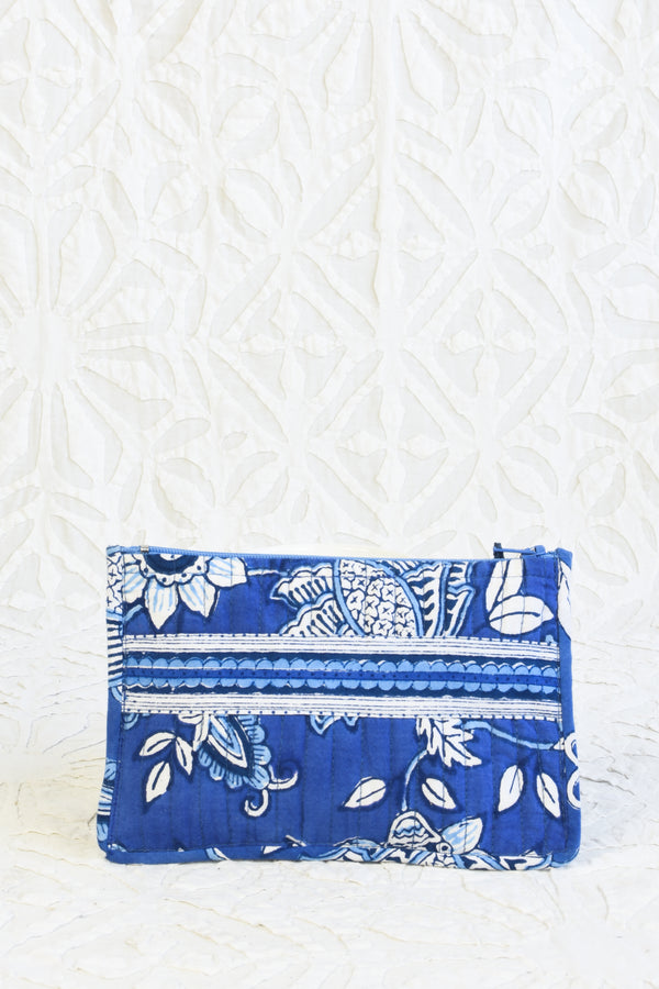 Block printed zipper pouch