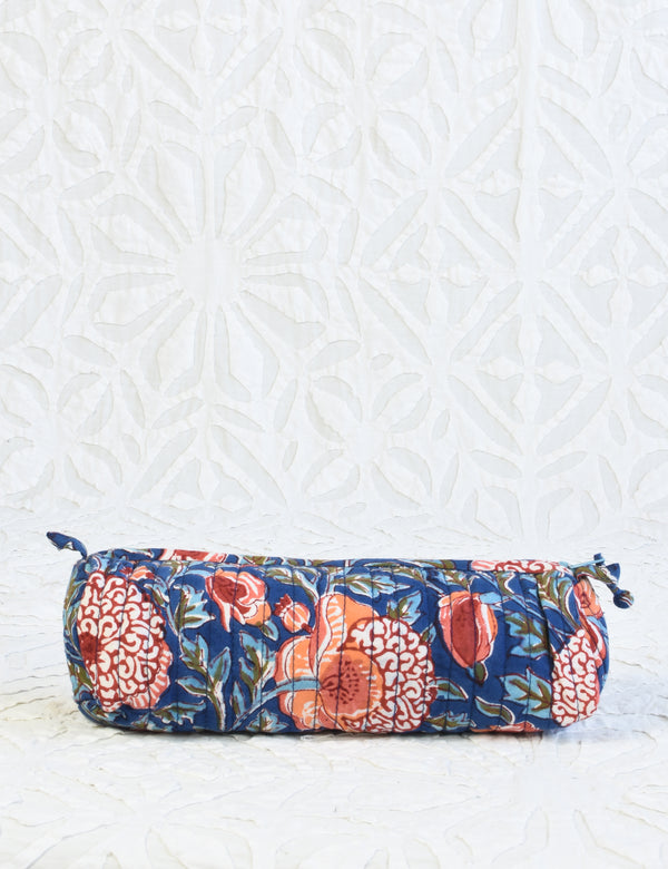 Block printed pencil bag