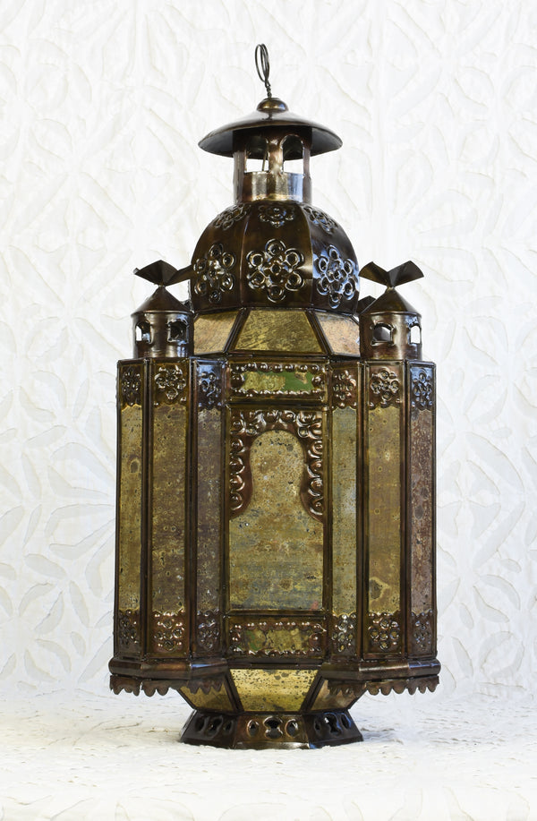 Mexican lantern with gilded glass