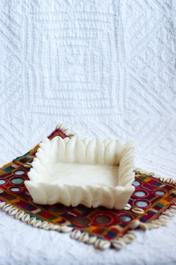 Square Carved Marble Bowl