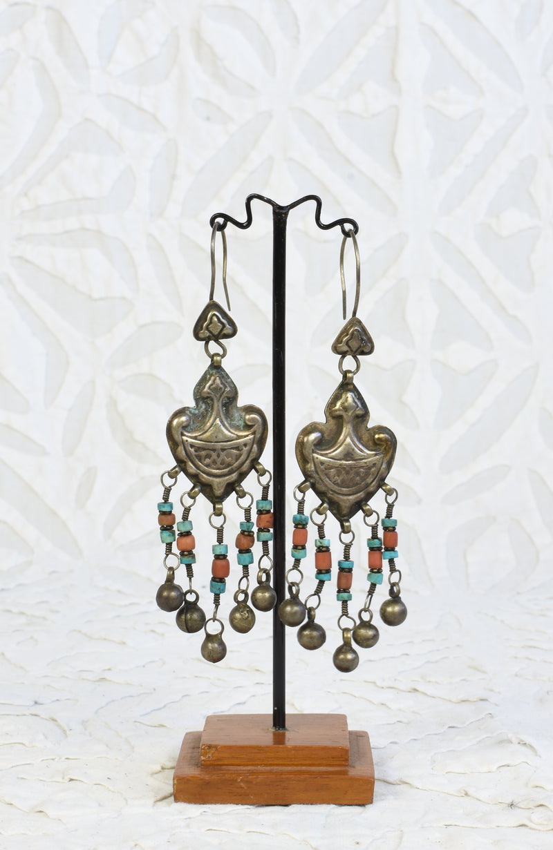 Silver Dangling Vintage Earrings