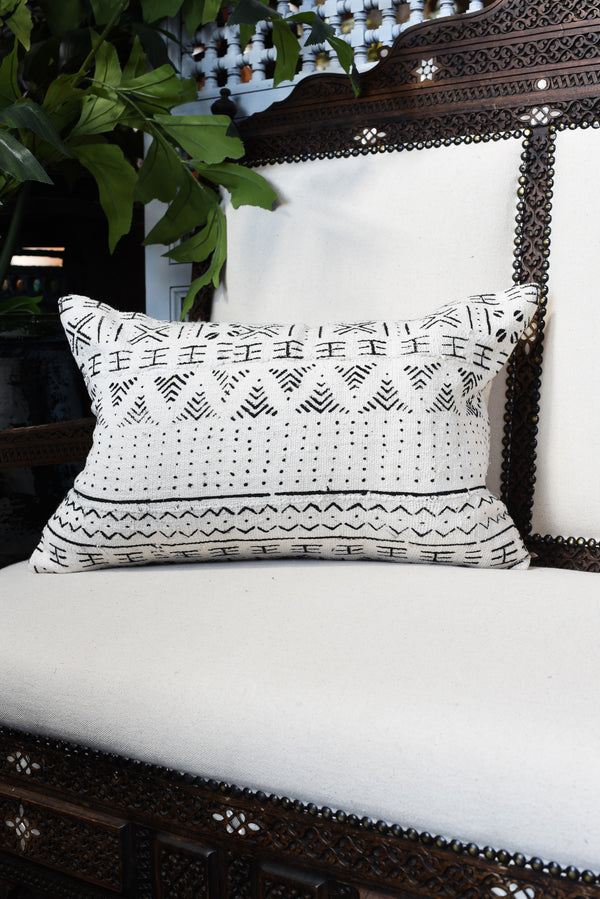 Mudcloth Lumbar Pillow