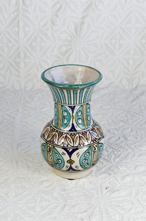 Hand Painted Vase from Fez