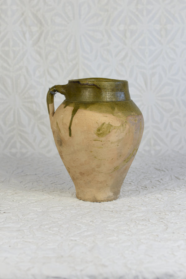 Green Glazed Konya Turkish Pot - Small