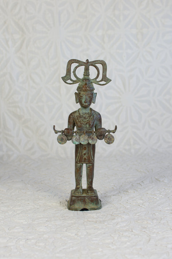 Timor Standing Bronze Figure - Male