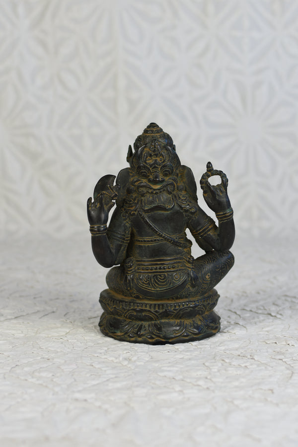 Bronze Sitting Ganesha - Medium