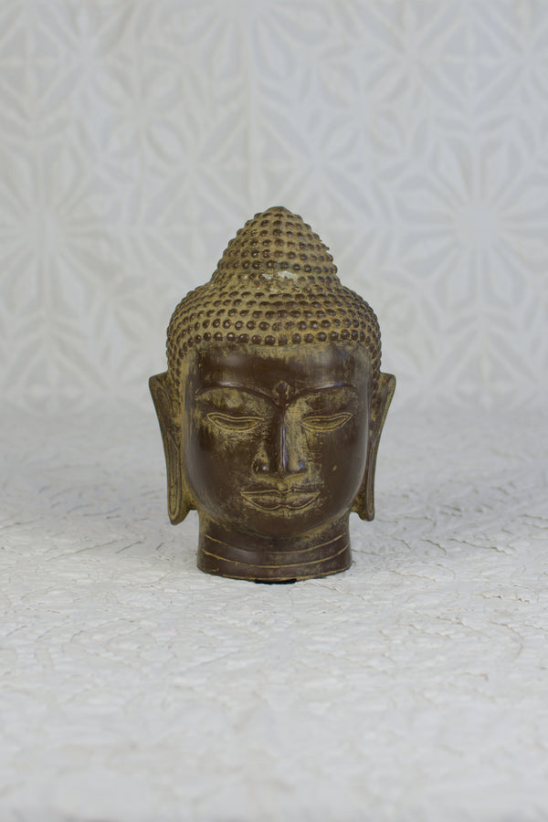 Bronze Buddha Head - Natural