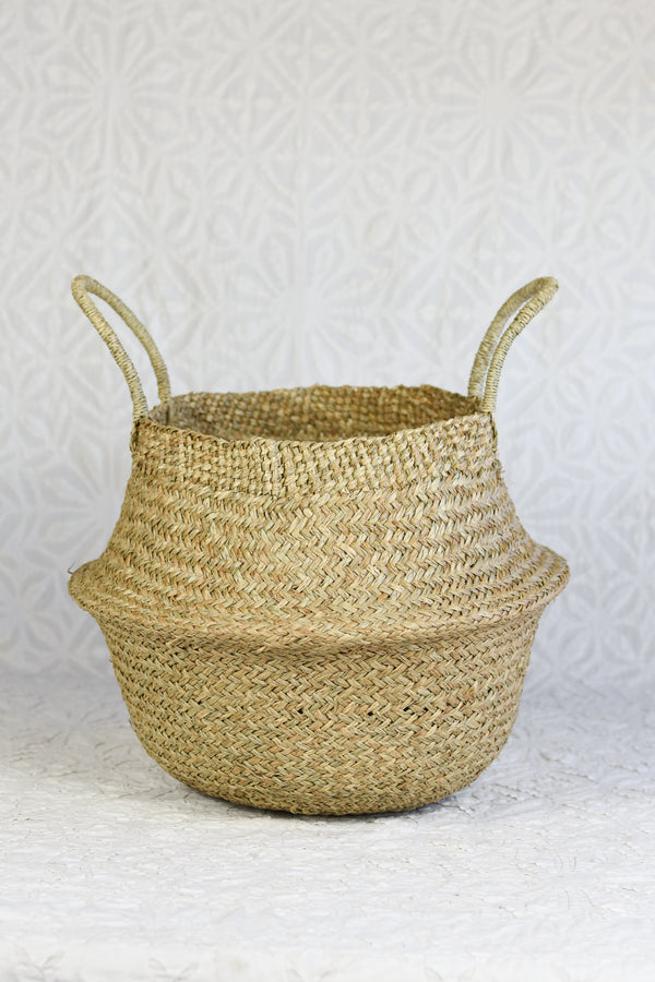 Belly Basket Planter - Natural