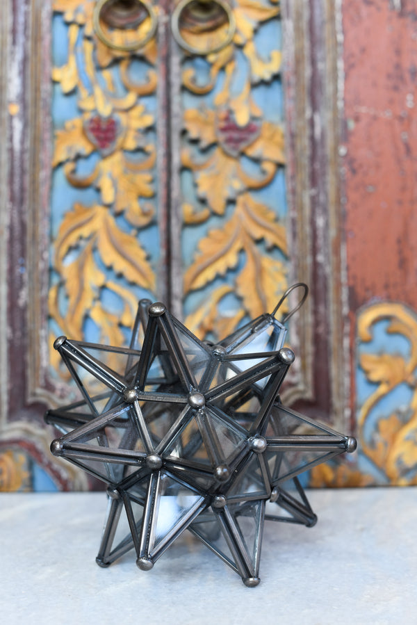 Clear Glass Moravian Star Light - Small