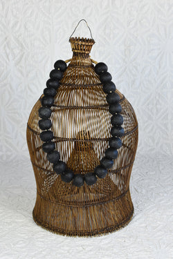 Large African Glass Beads - Black