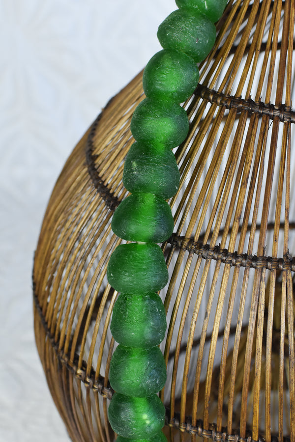 Medium Glass Beads - Green