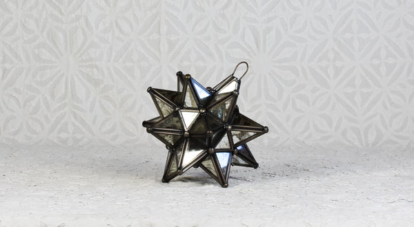 Silver Glass Moravian Star - Small