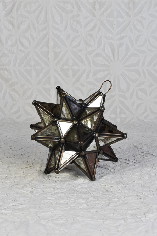 Silver Glass Moravian Star Light - Small