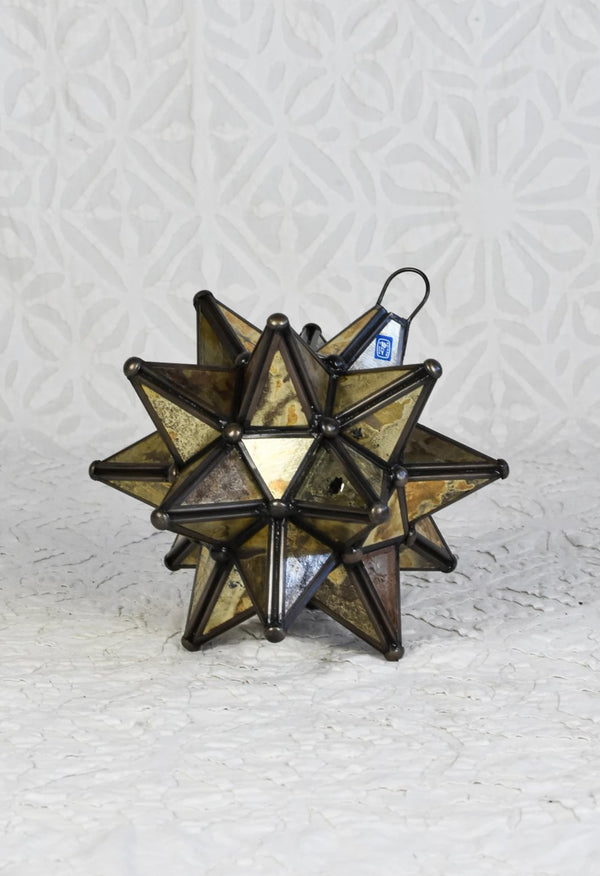 Gold Glass Moravian Star - Small