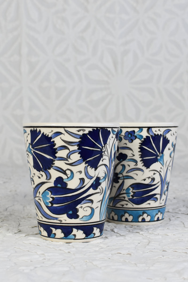 Iznik Hand Painted Cup - Set of 2