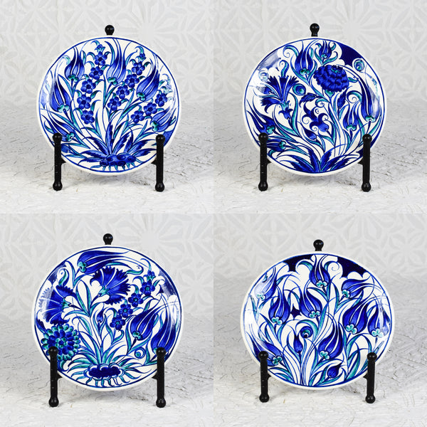Hand Painted Iznik Plate - Set of 4