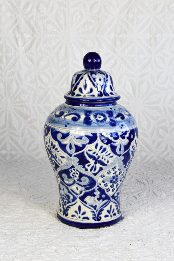Small Talavera Vase - Blue