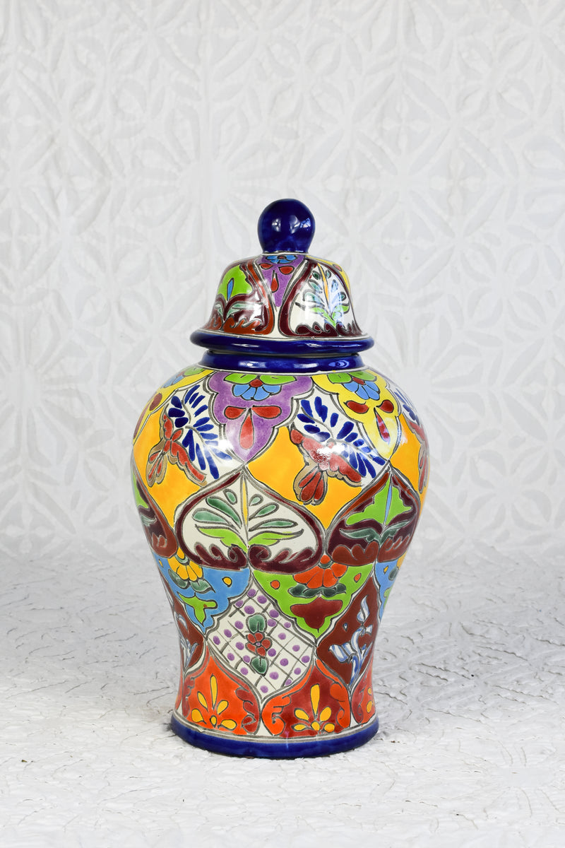 Small Talavera Vase - Multi-Colored