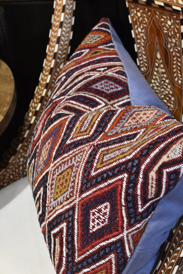Vintage Cicim Turkish Kilim Pillow